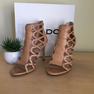 Aldo | Sexy Tan/Nude Strappy Heel Sandals 💋